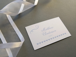 beautiful chic wedding place card
