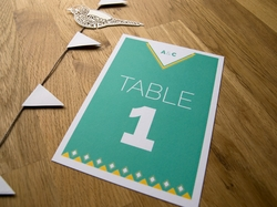 Beautiful chic wedding table number