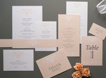 beautiful classic wedding thank you note