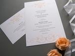 beautiful refined wedding invitation