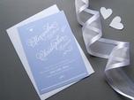 beautiful script wedding save the date