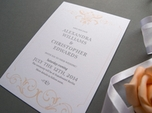 beautiful vintage save the date card