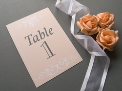 beautiful vintage wedding table number