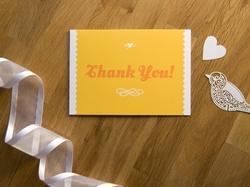 charmante bunte hochzeits-danksagungskarte