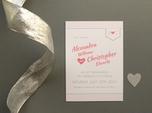 charmante hochzeits-save-the-date-karte