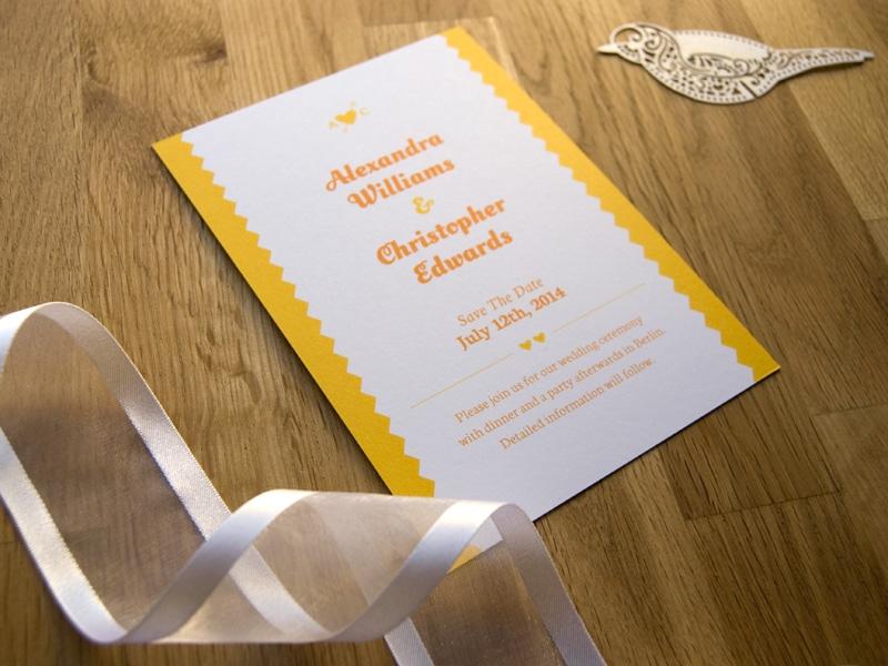 charmante reizende save-the-date-karte