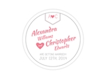 Charming drink coaster save the date