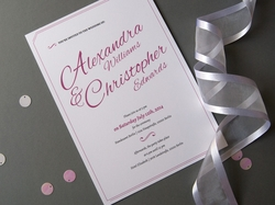 charming elegant wedding invitation
