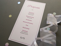 charming elegant wedding program