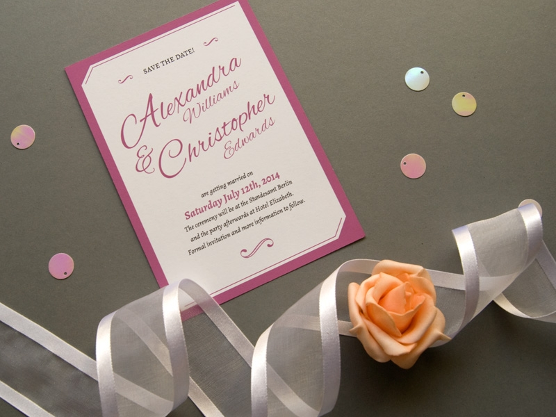 charming elegant wedding save the date