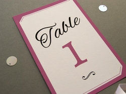 charming elegant wedding table number
