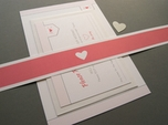 Charming minimal wedding invitation set
