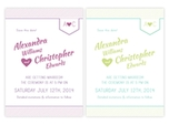 Charming wedding save the date with monogram