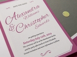 charming romantic save the date card