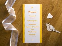 charming rustic wedding day program