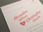 Chic wedding invitation with monogram