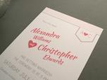 chic monogramm save-the-date-karte