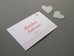 Chic and romantic wedding place card