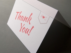 Chic and romantic wedding thank you card