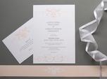 classic beautiful wedding invitation