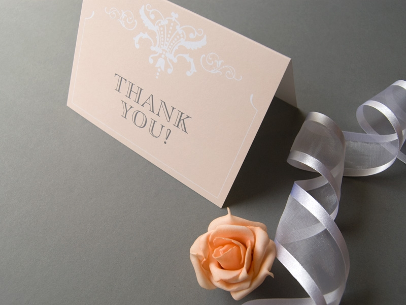 classic elegant thank you card