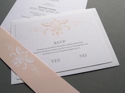 classic elegant wedding rsvp