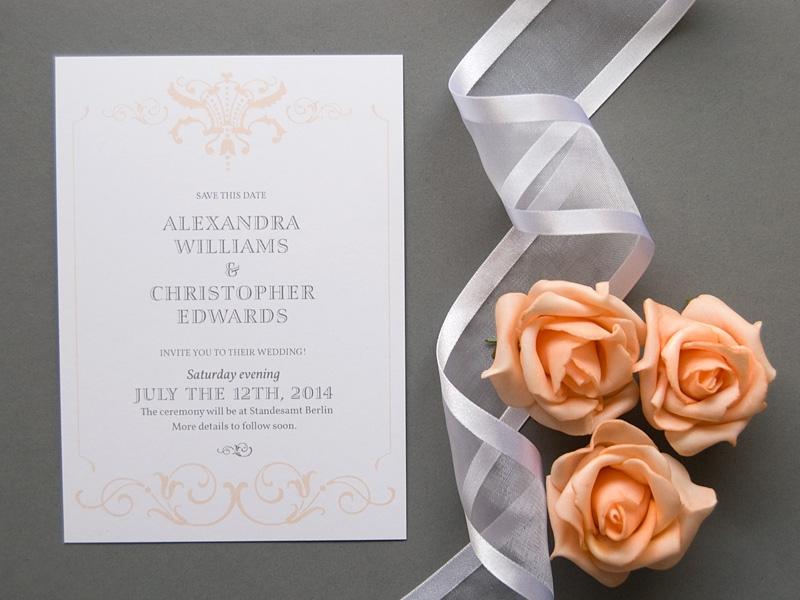 classic elegant wedding save the date