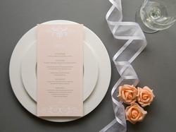 classic elegant wedding table menu