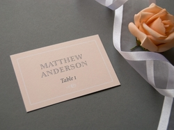 classic vintage wedding place card
