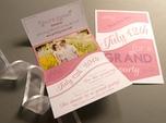 custom wedding invitation with photograph