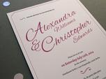 elegant calligraphic wedding invitation