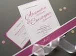 elegant modern wedding invite