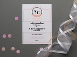 elegant refined save the date card