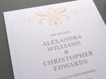 elegant refined wedding save the date