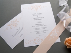 elegante klassische hochzeits-einladungskarte