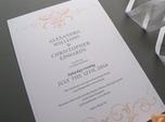 formal elegant wedding invitation