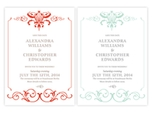 formal refined wedding save the date
