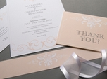 formal refined wedding thank you card