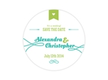 fun save the date drink coaster