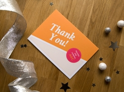 graphic fun wedding thank you card