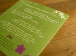 handgeschriebene hochzeitseinladungskarte