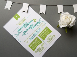 handgezeichnete hochzeits-einladungskarte