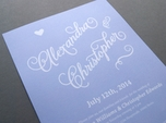 lovely calligraphy wedding invitation