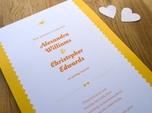 lovely script wedding invitation