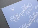 lovely whimsical save the date card