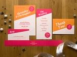 lustige stilvolle hochzeits-einladungskarte