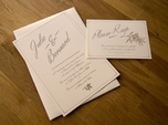 mediterranean french wedding invitation