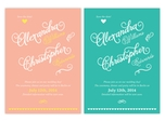 romantic calligraphy save the date