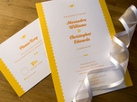 romantic charming wedding invitation
