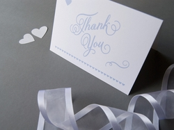 romantic chic wedding thank you card